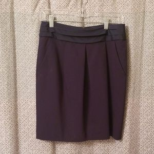 Gap Navy Pleated Pencil Skirt with Pockets